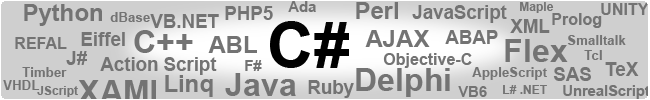 Programming Languages focused on C#