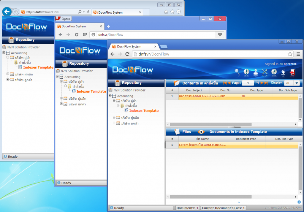 DocnFlow WebClient - Web Browsers